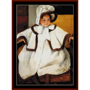 Young Girl in White Coat - Cassatt cross stitch pattern by Cross Stitch Collectibles | Crafting | Cross-Stitch | Wall Hangings