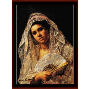 Spanish Dancer - Cassatt cross stitch pattern by Cross Stitch Collectibles | Crafting | Cross-Stitch | Wall Hangings