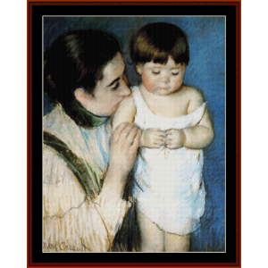 mother and son - cassatt cross stitch pattern by cross stitch collectibles