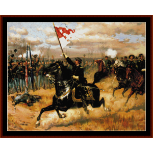 sheridans ride - civil war cross stitch pattern by cross stitch collectibles