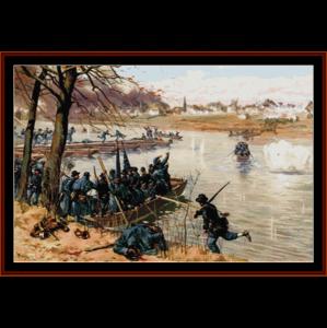 battle of fredericksburg - civil war cross stitch pattern by cross stitch collectibles