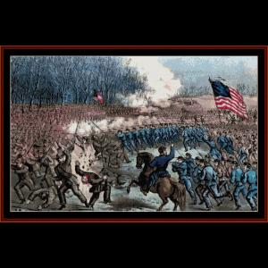 battle of chancellorsville - civil war cross stitch pattern by cross stitch collectibles