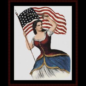 spirit of 61 - civil war cross stitch pattern by cross stitch collectibles