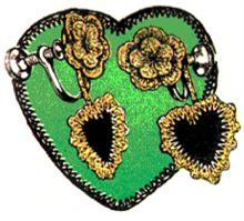 heart earrings crochet pattern