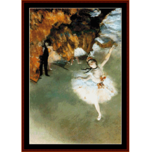 dancer on stage - degas cross stitch pattern by cross stitch collectibles