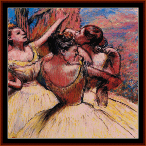 Three Dancers II - Degas cross stitch pattern by Cross Stitch Collectibles | Crafting | Cross-Stitch | Wall Hangings