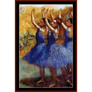 three dancers iii - degas cross stitch pattern by cross stitch collectibles