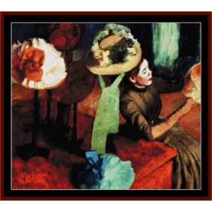 the millinery shop - degas cross stitch pattern by cross stitch collectibles