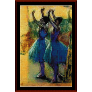 two blue dancers - degas cross stitch pattern by cross stitch collectibles