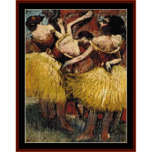three dancers - degas cross stitch pattern by cross stitch collectibles