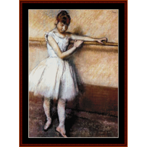 at the barre - degas cross stitch pattern by cross stitch collectibles