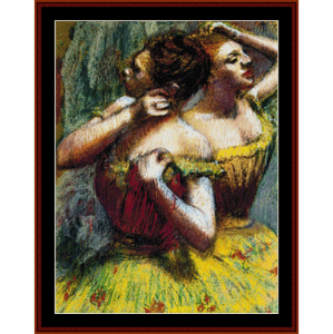 two dancers - degas cross stitch pattern by cross stitch collectibles
