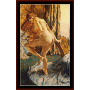 after the bath iii - degas cross stitch pattern by cross stitch collectibles