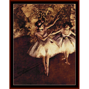 Young Dancers - Degas cross stitch pattern by Cross Stitch Collectibles | Crafting | Cross-Stitch | Wall Hangings