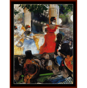 cafe concert - degas cross stitch pattern by cross stitch collectibles