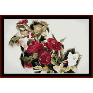 Roses - Demuth cross stitch pattern by Cross Stitch Collectibles | Crafting | Cross-Stitch | Wall Hangings