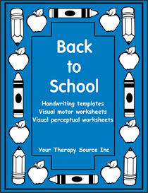 back to school handwriting activities