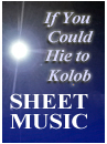 if you could hie to kolob - piano sheet music