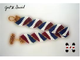 Wavy Flag Bracelet-France | eBooks | Arts and Crafts
