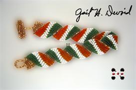 wavy flag bracelet-ireland