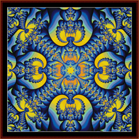 fractal 39 cross stitch pattern by cross stitch collectibles