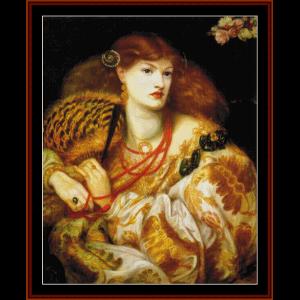 Mona Vanna - Dante Rossetti cross stitch pattern by Cross Stitch Collectibles | Crafting | Cross-Stitch | Wall Hangings