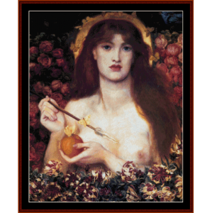 Verticordia - Dante Rossetti cross stitch pattern by Cross Stitch Collectibles | Crafting | Cross-Stitch | Wall Hangings