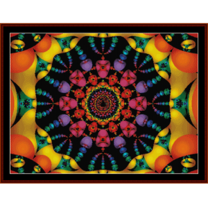 fractal 117 cross stitch pattern by cross stitch collectibles