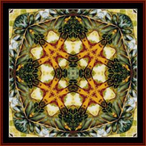 fractal 37 cross stitch pattern by cross stitch collectibles