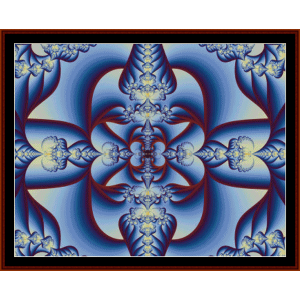 fractal 46 cross stitch pattern by cross stitch collectibles