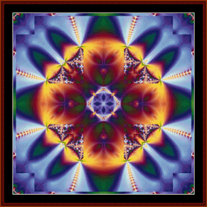 fractal 50 cross stitch pattern by cross stitch collectibles