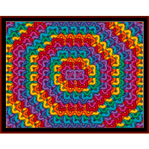 fractal 51 cross stitch pattern by cross stitch collectibles