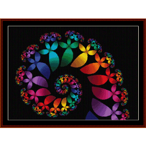 fractal 60 cross stitch pattern by cross stitch collectibles