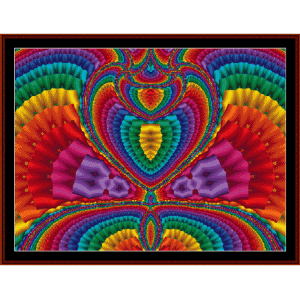 fractal 64 cross stitch pattern by cross stitch collectibles