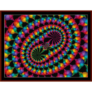 Fractal 68 cross stitch pattern by Cross Stitch Collectibles | Crafting | Cross-Stitch | Wall Hangings