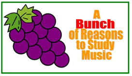 bunch of reasons to study music bulletin board