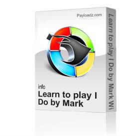 learn to play i do by mark wills