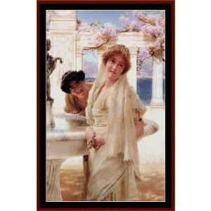 a difference of opinion - alma tadema cross stitch pattern by cross stitch collectibles