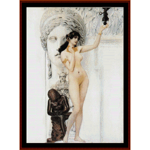 allegory of sculpture - klimt cross stitch pattern by cross stitch collectibles