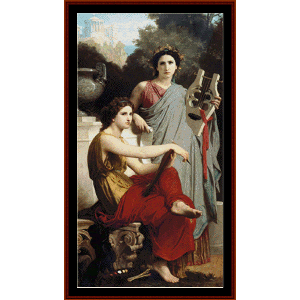 Art and Literature - Bouguereau cross stitch pattern by Cross Stitch Collectibles | Crafting | Cross-Stitch | Wall Hangings
