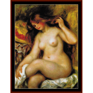 bather with hat - renoir cross stitch pattern by cross stitch collectibles