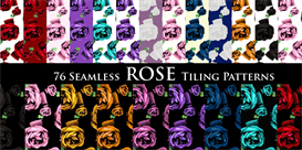 rose print tiling pattern