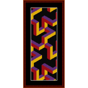fractal 235 bookmark cross stitch pattern by cross stitch collectibles