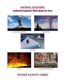 natural disasters picture activity cards
