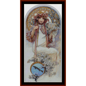 ivanice - mucha cross stitch pattern by cross stitch collectibles