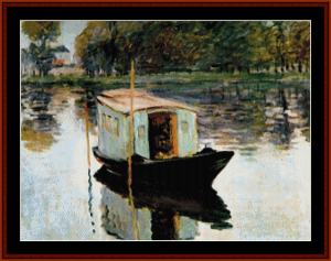 Boat Studio - Monet cross stitch pattern by Cross Stitch Collectibles | Crafting | Cross-Stitch | Wall Hangings