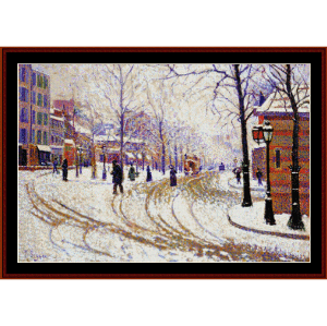 boulevard de clichy - signac cross stitch pattern by cross stitch collectibles