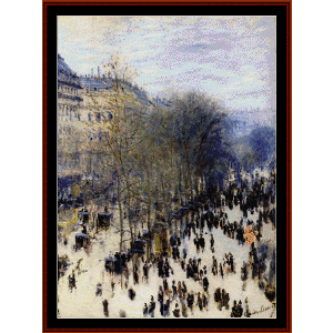Boulevard des Capucines - Monet cross stitch pattern by Cross Stitch Collectibles | Crafting | Cross-Stitch | Wall Hangings