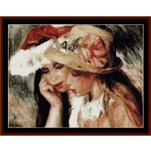 Les Deux Soeurs - Renoir cross stitch pattern by Cross Stitch Collectibles | Crafting | Cross-Stitch | Wall Hangings