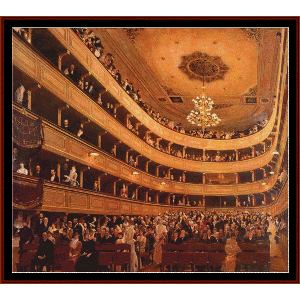burgtheater auditorium vienna - klimt cross stitch pattern by cross stitch collectibles